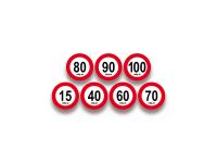 Geschwindigkeitsschilder für Italien