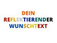 Selbstklebende, reflektierende Buchstaben und Zahlen