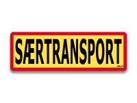Reflektierendes Schild Saertransport