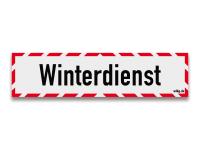 Reflektierendes Schild Winterdienst